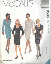 McCall's 8566 Misses' Unlined Jacket and Skirt - Sewing Pattern