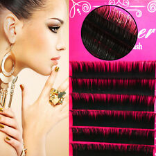 Girls Unique 8-14mm Individual False Thick Eyelashes Fake Lash Extensions C Curl