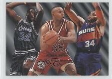 1994-95 Fleer #7 Shaquille O'Neal Charles Barkley Clarence Weatherspoon Card 0a1