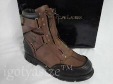 POLO RALPH LAUREN TAURIN II LEATHER BOOT (TAN/BRIARWOOD) 'DEADSTOCK'