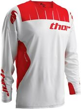 NEW THOR MX MENS ADULT BMX ATV RIDING CORE CONTRO WHITE/ RED MOTO X JERSEY