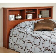 Queen Bookcase Headboard Wood Storage Full Wooden Bedroom Furniture Shelf Bed