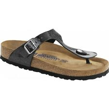 Birkenstock GIZEH Ladies Womens Buckle Toe Post Slip On Summer Sandals Black