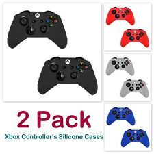 2 X Silicone Rubber Soft Case Cover Gel Skin for Microsoft Xbox One Controller