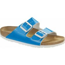 Birkenstock ARIZONA Ladies Womens Buckle Summer Open Toe Beach Sandals Neon Blue
