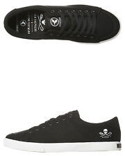 New Kustom Men's Kramer Sea Shepherd Shoe Cotton Canvas Mens Shoes Black