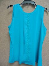 Ladies Shirt NWT Calvin Klein SIze L Color Lagoon Suggested $59.00