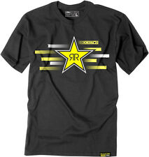 Factory Effex Licensed Rockstar Streak T-Shirt Black Mens All Sizes
