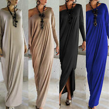 Sexy Womens Loose Long Sleeve Off Shoulder Maxi Dresses Party Evening Dress Robe