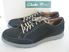 NEW Clarks Mens MILLOY STYLE NAVY Leather Casual TRAINERS Shoes VARIOUS SIZES