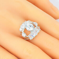 jewelry white gold filled mystic eye crystal promise love ring size 6 7 8