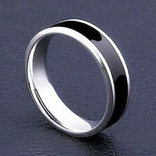 Mens Jewelry Free Shipping Vintage Stainless Steel Ring Band Titanium 8mm