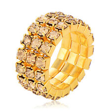 Gold Plated Zircon Free Size Adjustable Fashion Ring Gift FreeShipping