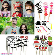 Photo Booth Props Lips Moustache On A Stick Wedding Birthday DIY Decoration