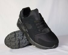 MENS NEW BLACK TRAINERS FITNESS GYM SPORTS RUNNING SHOES SPORTS 6-11