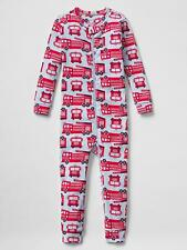 Baby Gap pajamas NWT FIRETRUCK rescue ladder truck romper sleeper one piece pj