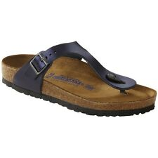 Birkenstock Gizeh Thong - Color Metallic Dark Sapphire - Leather