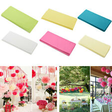 Hot 20 Sheets Tissue Paper Solid Colour Wrap Acid Free Flowers 6 colors ES