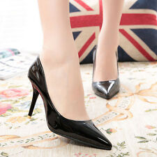 Womens Fashion Pointed Toe Stilettos Slip On Casual Career Party High Heel Shoes