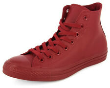 New Men's Converse Chuck Taylor Mono Leather Hi Red Footwear Hi-top Sneakers Boo