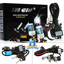 Pair H1 H3 H7 H4-3 Xenon HID Kit Conversion Light Bulbs 4300K 6000K 8000K 12000K
