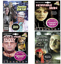 Fancy Dress Halloween Special FX Make Up Missing Teeth Skin Zombie Witch Putty