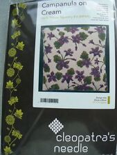 Cleopatras's Needle Tapestry Herb Pillow Kit Campanula on Cream HP49