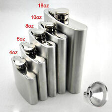 Stainless Hip Liquor Whiskey Alcohol Pocket Flask+Funnel+Cup Gift    ST
