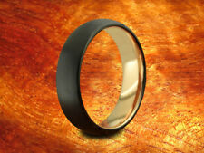 Black & Rose Gold Tungsten Band 6MM Brushed Finish-Wedding Ring,Two Tone Ring.