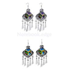 Women Fashion Stud Earings Antique Multicolor Embroidery Tassels Dangle Earrings