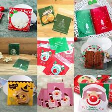 100pcs Xmas Party Bags Cello Cellophane Loot Gift Candy Cookies Sweet Treat Bag