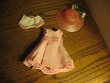 "Ginny size pink check dress panties hat lot of 3 fits 8"" Ginger Muffie MA"