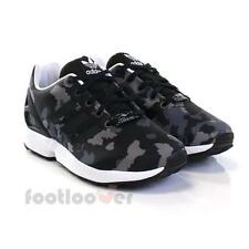 Shoes Adidas Originals ZX Flux J s76284 Running Boy's Sneakers Mesh Black Camo