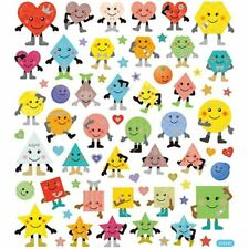 Smiley Faces Stickers Large Sheet Boys Girls Party Bag Filler Foil Finish