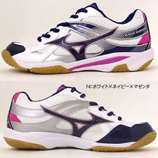 MIZUNO Unisex Volleyball Shoes WAVE ODEEN V1GA1650 White X navy X magenta