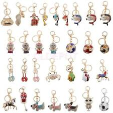 Rhinestone Crystal Charm Pendant Purse Bag Car Keyring Key Ring Keychain Gift