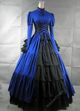 Victorian Gothic Corset Dress Gown Steampunk Reenactment Theater Clothing 068