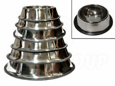 Stainless Steel, Non-Slip, Dog and Cat, Feeding Bowls/Water Dishes (6 Sizes)