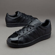 Shoes Adidas Superstar Glossy bb0684 man Black sneakers Paint