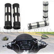 "1"" Handlebar Hand Bar CNC Billet Edge Cut Grips Grip For Harley Davidson Touring"