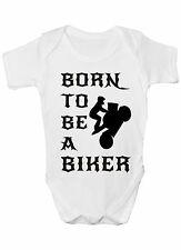 Born To Be A Biker Motorbike Baby Romper Baby Clothing Funny Gift