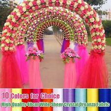 High Quality 48cm Wide Sheer Crystal Organza Fabric For Wedding Decoration 4.8m