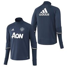 adidas Childrens Kids Football Soccer Manchester United Training Top - Blue