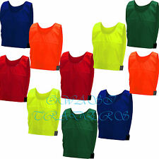 10 FOOTBALL TRAINING SPORTS BIBS Kids/Youth and Adult Sizes