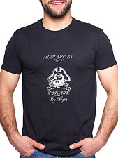 MUDLARK BY DAY PIRATE BY NIGHT PERSONALISED T SHIRT FUNNY