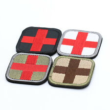 Red Cross Medical Assistant 3D Embroidery Patch Armband Velcro Props Patches Hot