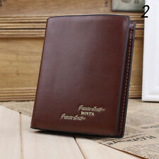 Fashion Mens PU Leather Credit Card Holder Wallet Bifold ID Cash Coin Purse Gift