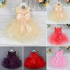 Flower Girls Dress Formal Princess Pageant Wedding Birthday Party Bridesmaid