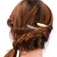Fashion Leaf Feather Metal Hair Pin Clip Hairpin Women Accessory Jewelry