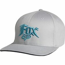 FOX RACING ASSOCIATION CAP hat flexfit bill peak motocross mx mens GREY / BLUE